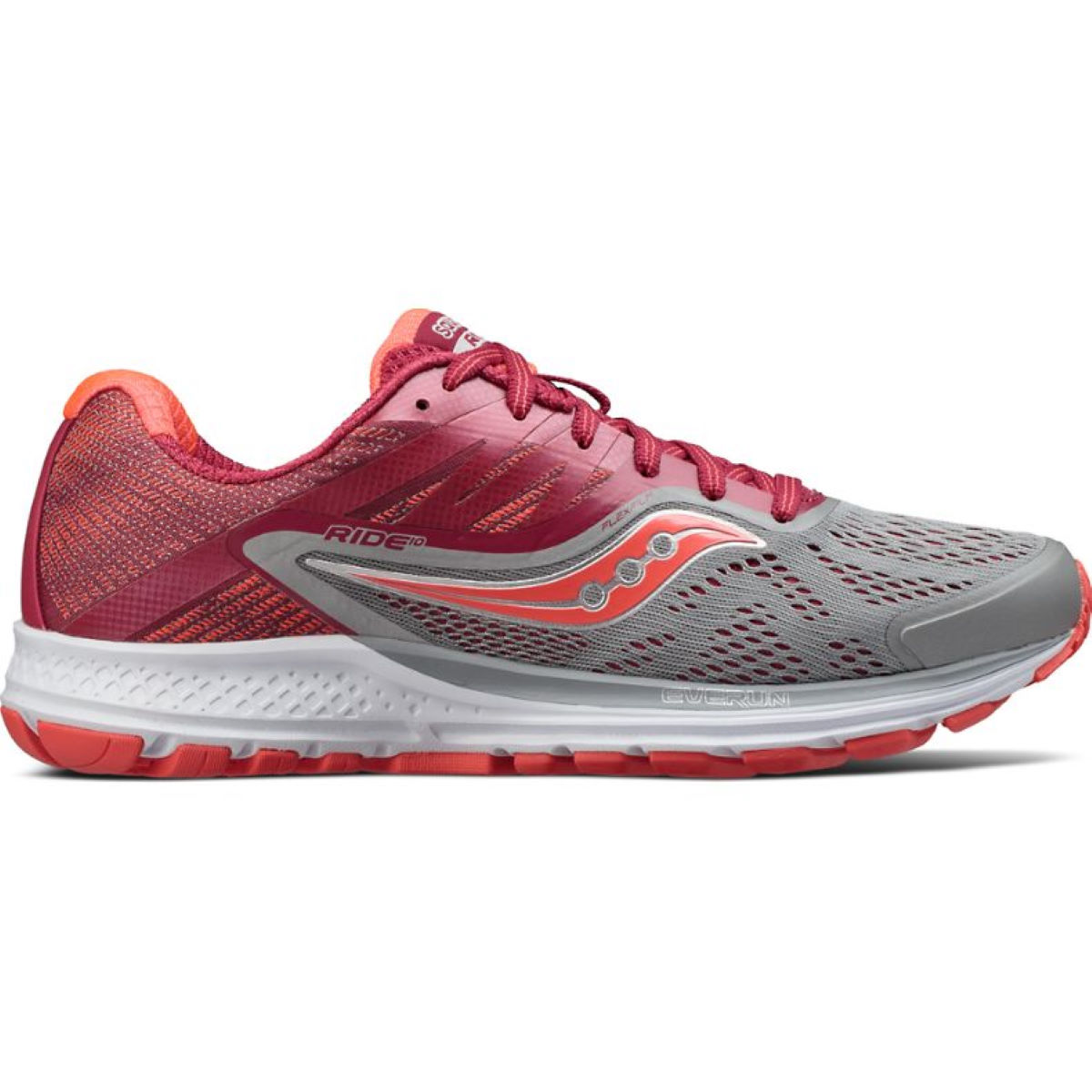 Chaussures Femme Saucony Ride 10 - UK 4 Grey/Pink