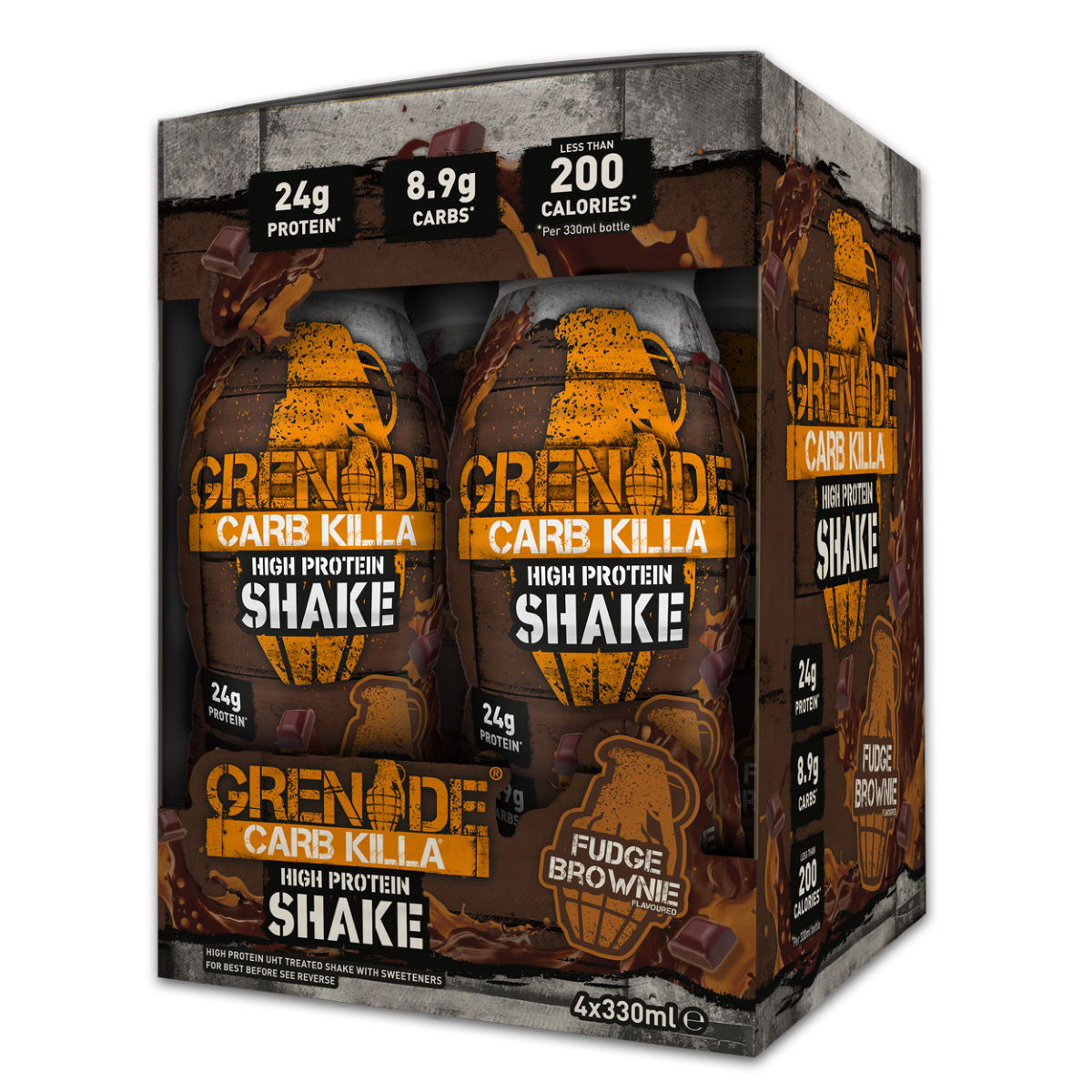 Shake Grenade Carb Killa High Protein - 330ml 4 Fudge Brownie