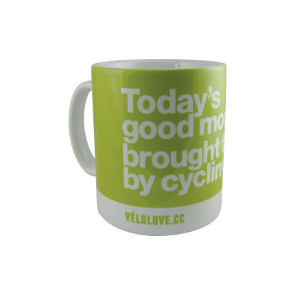 "Tazza Velolove ""Today's good mood is brought to you by cycling."""