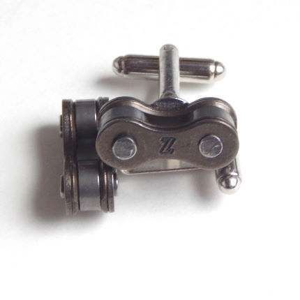 Recycle and Bicycle Recycled Bike Chain Cufflinks