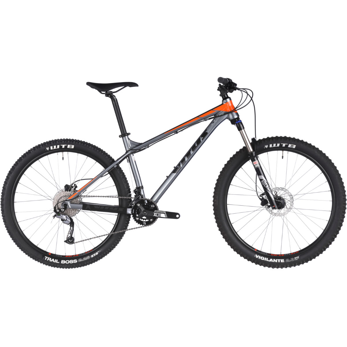 VTT semi-rigide Vitus Nucleus 275 VRS (Rockshox, 2018) - Gris/Orange