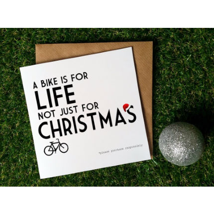 Worry Less Designs Cycling Christmas Cards (Pack of 6)