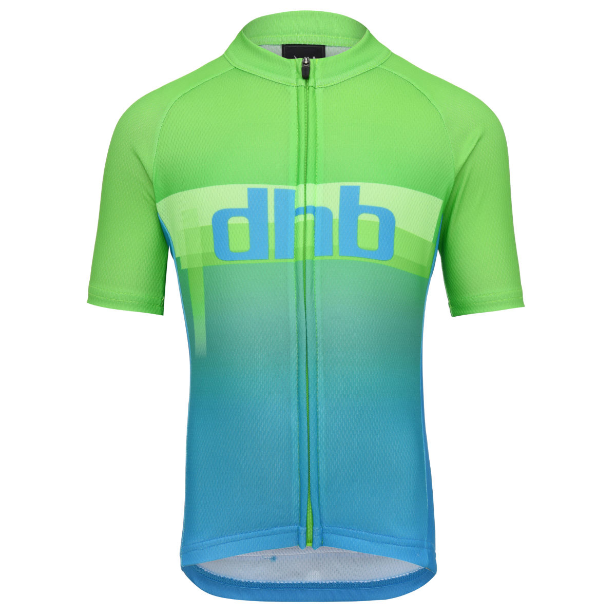 Maillot Enfant dhb Blur (manches courtes) - 8-10 Years Green/Blue