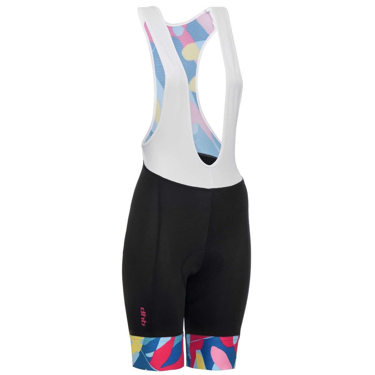 dhb Blok Women's Bib Short - Tropic - UK 10 Black/Multi