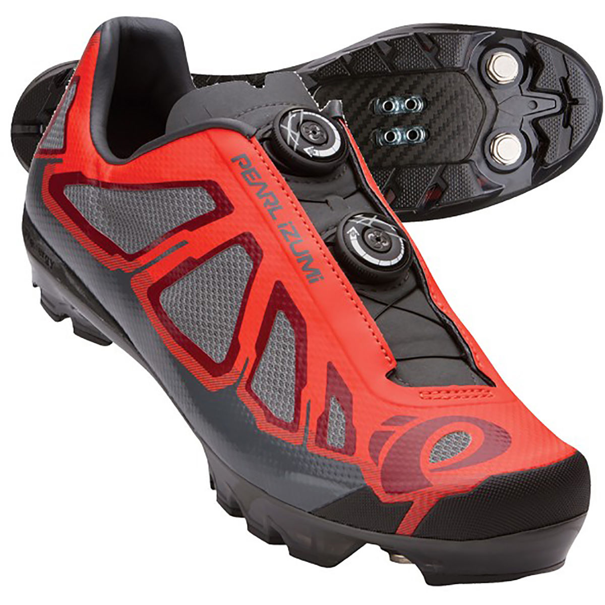 Chaussures VTT Pearl Izumi X-Project 1.0 - 43.5 Mandarin Red/Black
