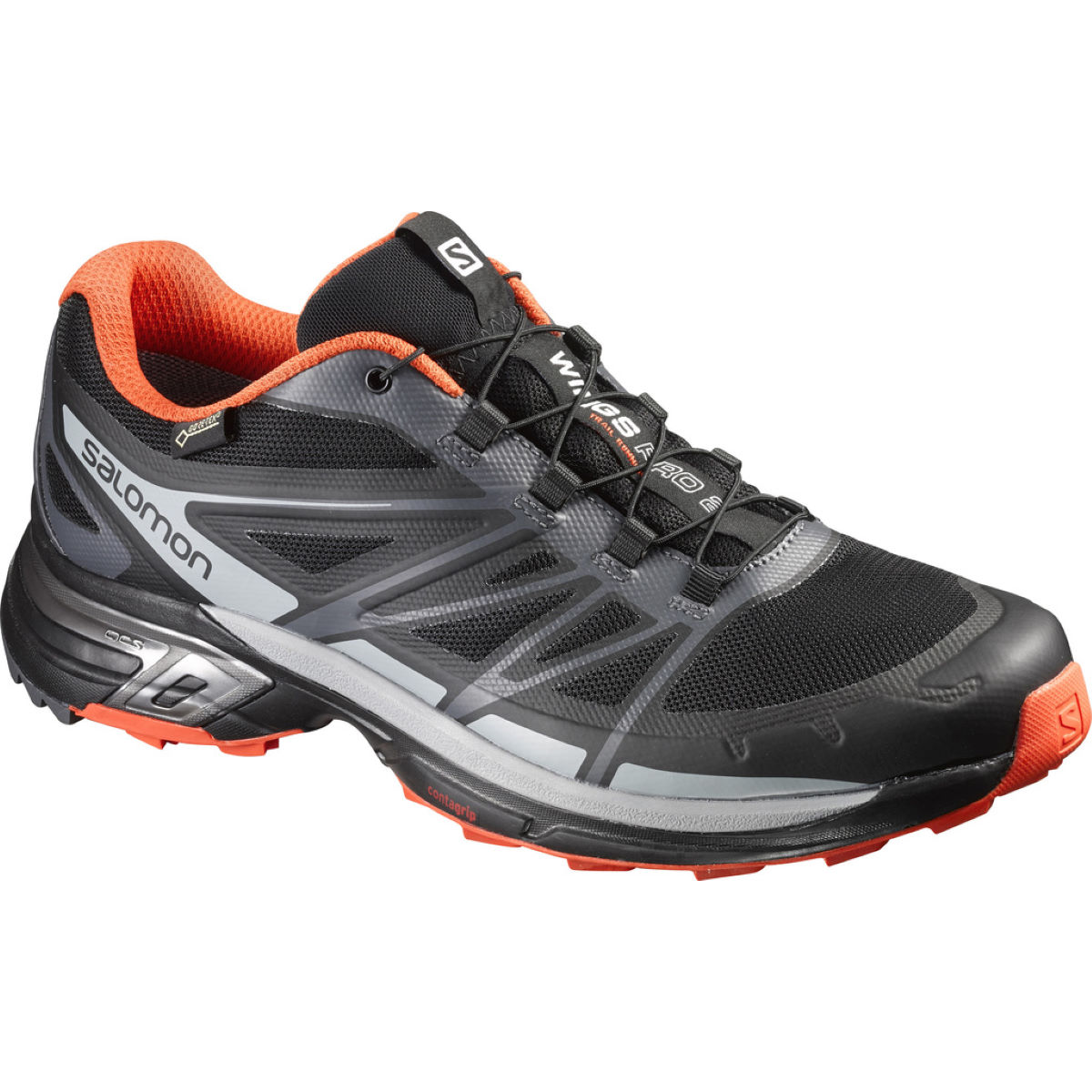 Chaussures Salomon Wings Pro 2 GTX - 10 Black/Cloud/Red