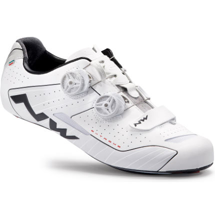 Northwave Extreme Road Shoes (Wide fit) White/Black EU 39