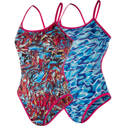Speedo Waterflow / Fireglam Flip turns Reverse Swimsuit