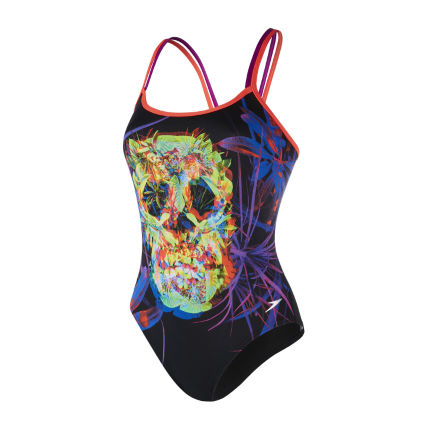 Speedo Psychedelic Fusion Double Crossback Swimsuit
