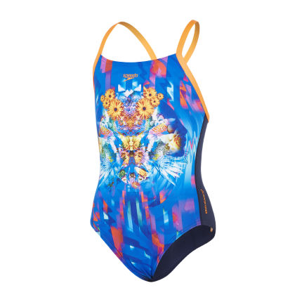Speedo Gril's Dreamscape Crossback Swimsuit