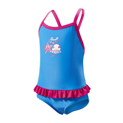 Speedo Fantasy Flowers Frill Baddräkt - Junior