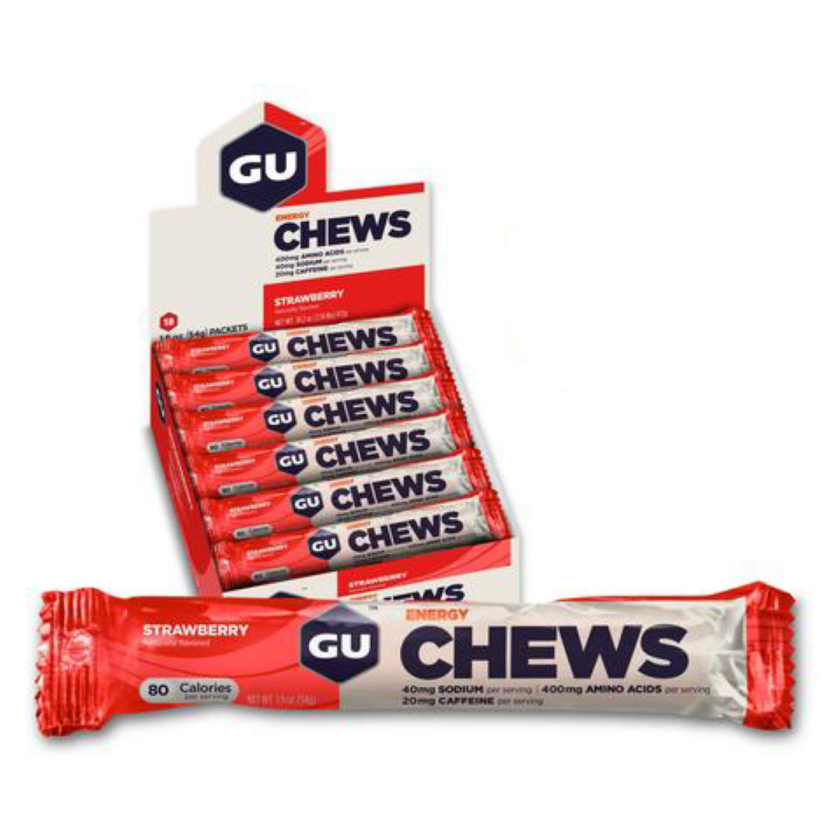 GU Energy Chews (Box of 18) - Barritas
