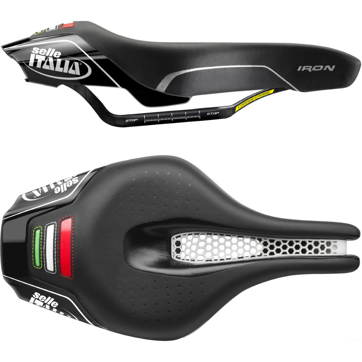 Selle Selle Italia Iron Kit Carbonio Flow - L123 BLACK Selles