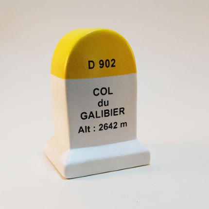 Cycling Souvenirs Col du Galibier Road Marker Model