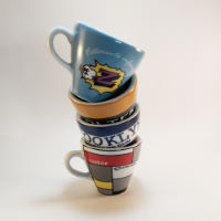 Cycling Souvenirs Retro Teams Espresso Cups (Set of 4)