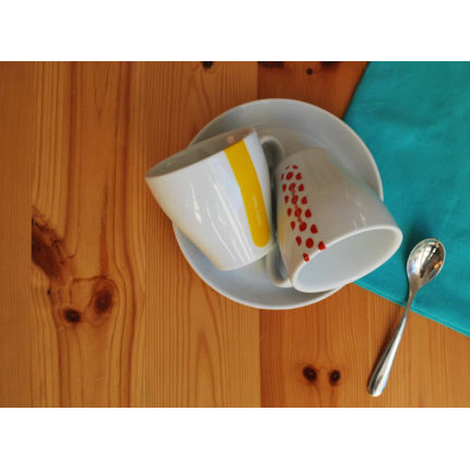 Cycling Souvenirs Grand Tour Cappuccinokoppar (4 st)