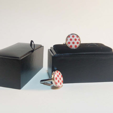 Cycling Souvenirs Polkda Dot Cufflinks