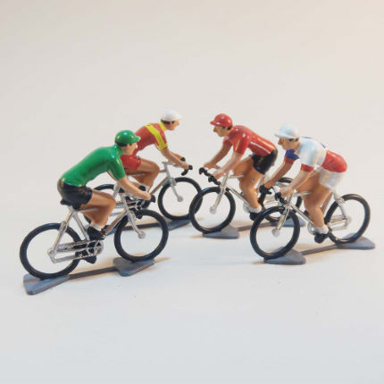 Cycling Souvenirs Mini Cyclist Random Set of 4