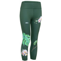dhb Floral Grey sportlegging voor dames (3/4)