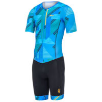 dhb Blok Short Sleeve Tri Suit - Geo Stripe