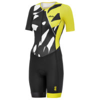 dhb Blok Womens Short Sleeve Tri Suit - Palm