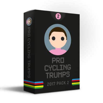 Pro Cycling Trumps Kartenspiel (2017, Pack 2)