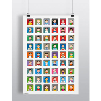 Pro Cycling Trumps Legends A2 Print