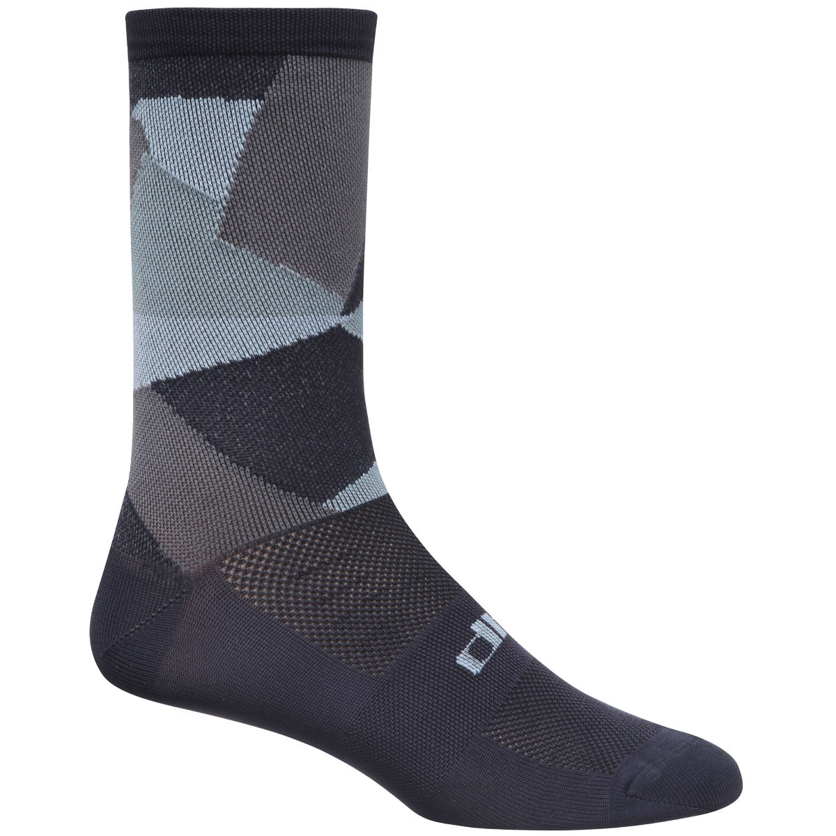 Chaussettes dhb Blok Geo Camo - UK 2.5-6 (EU 35-39) Grey/Blue/Black