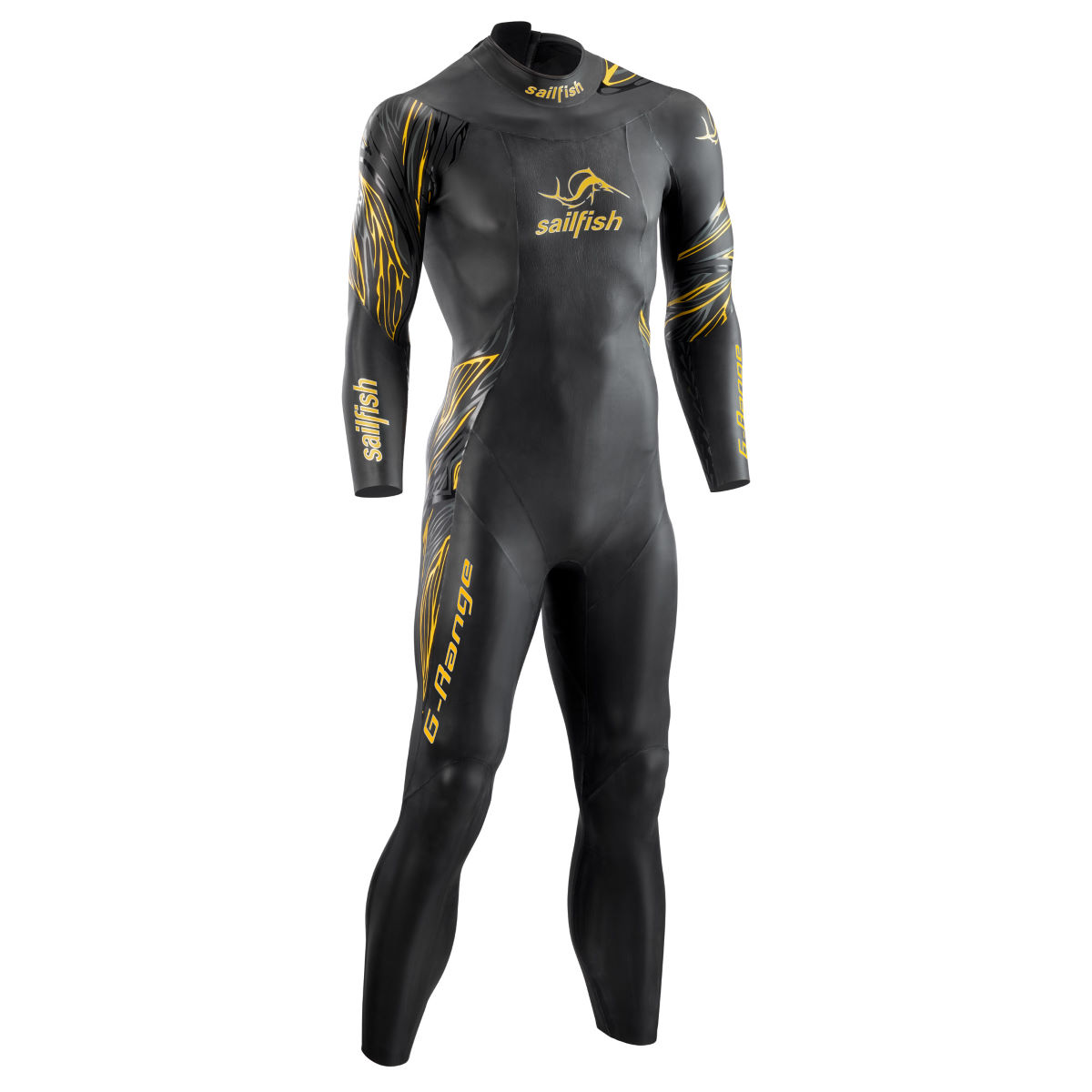Sailfish G-Range Wetsuit - Extra Small Long Black/Yellow | Wetsuits