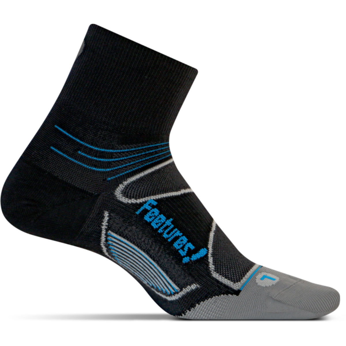 Feetures! Elite Ultralight Plantar Fasciitis QTR - Calcetines