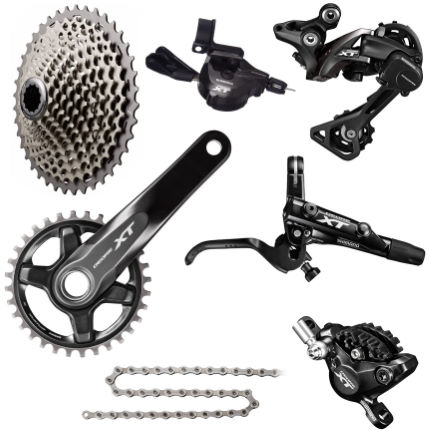 Shimano XT 1x11 Groupset - No Rotors