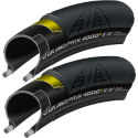 Continental Grand Prix 4000S II Folding Road Tyre Pair (25c)