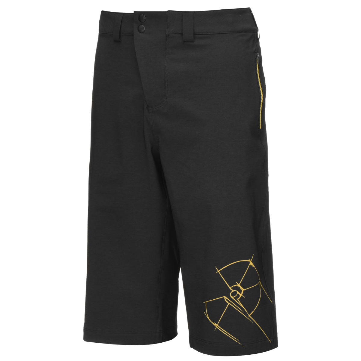Short Nukeproof Blackline Rad - Large Noir Shorts amples