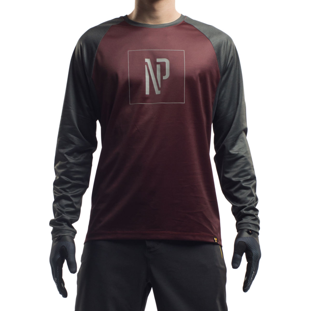 Maillot Nukeproof Outland NP (manches longues) - Medium Maroon/Grey