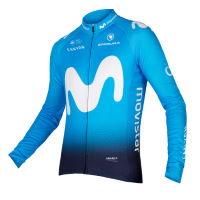 Endura Movistar Team fietstrui (lange mouwen, 2018)