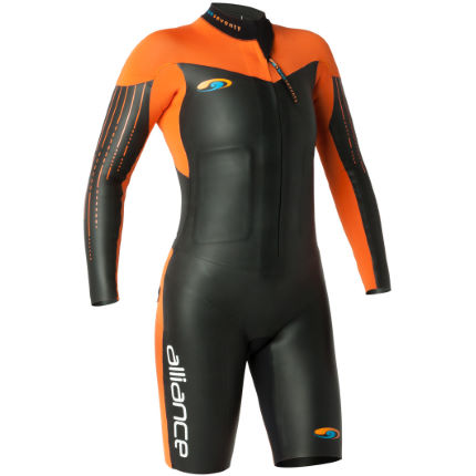 blueseventy Women's Alliance SwimRun Wetsuit:Black/Red:XS