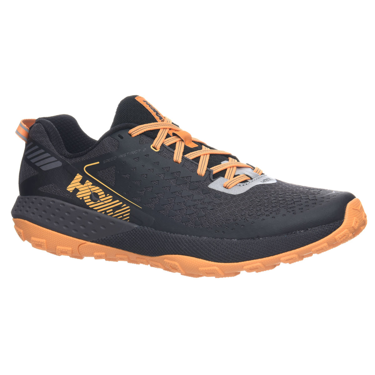 Chaussures Hoka One One Speed Instinct 2 - UK 11 Black/Kumquat