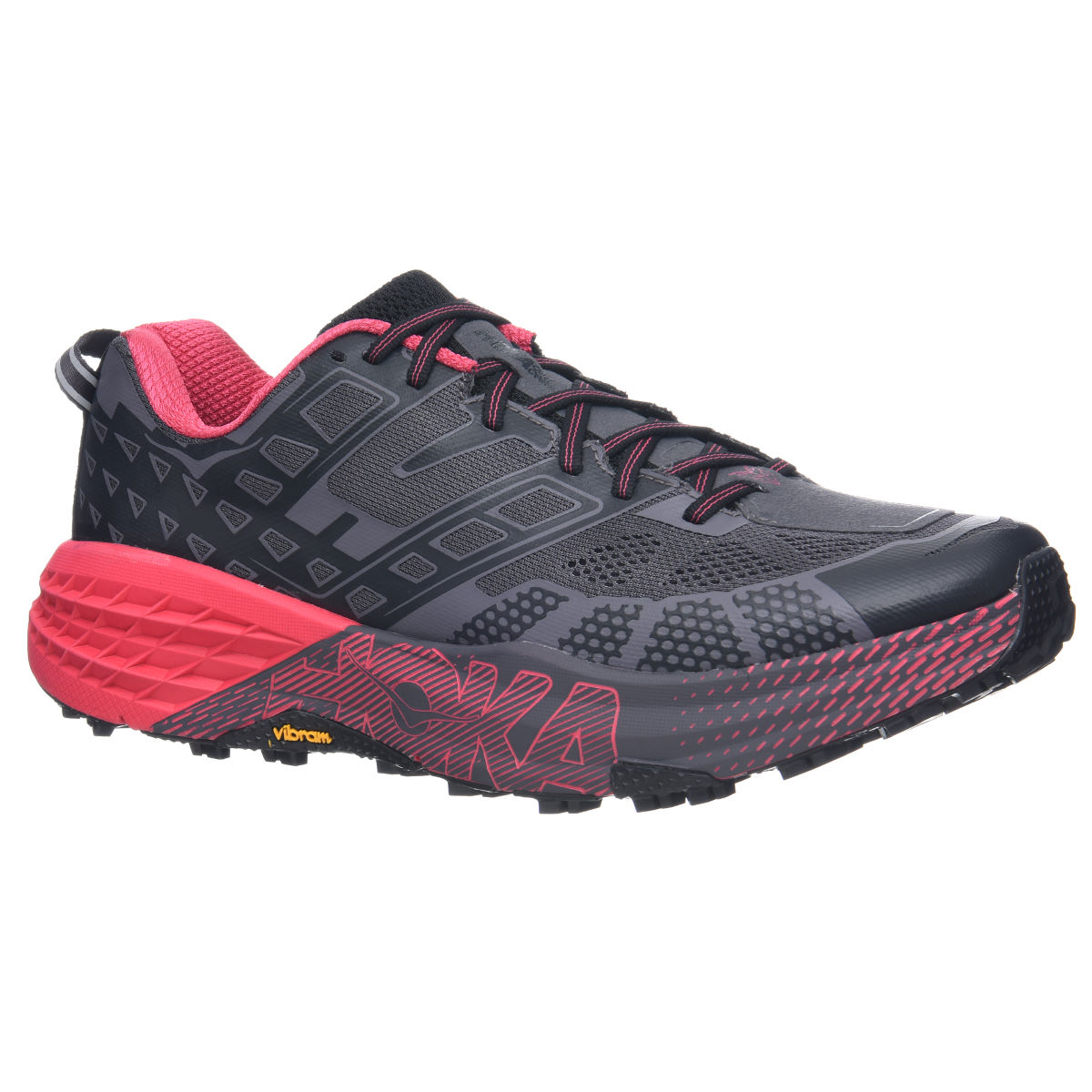 Chaussures Femme Hoka One One Speedgoat 2 - UK 5 Black/Azalea