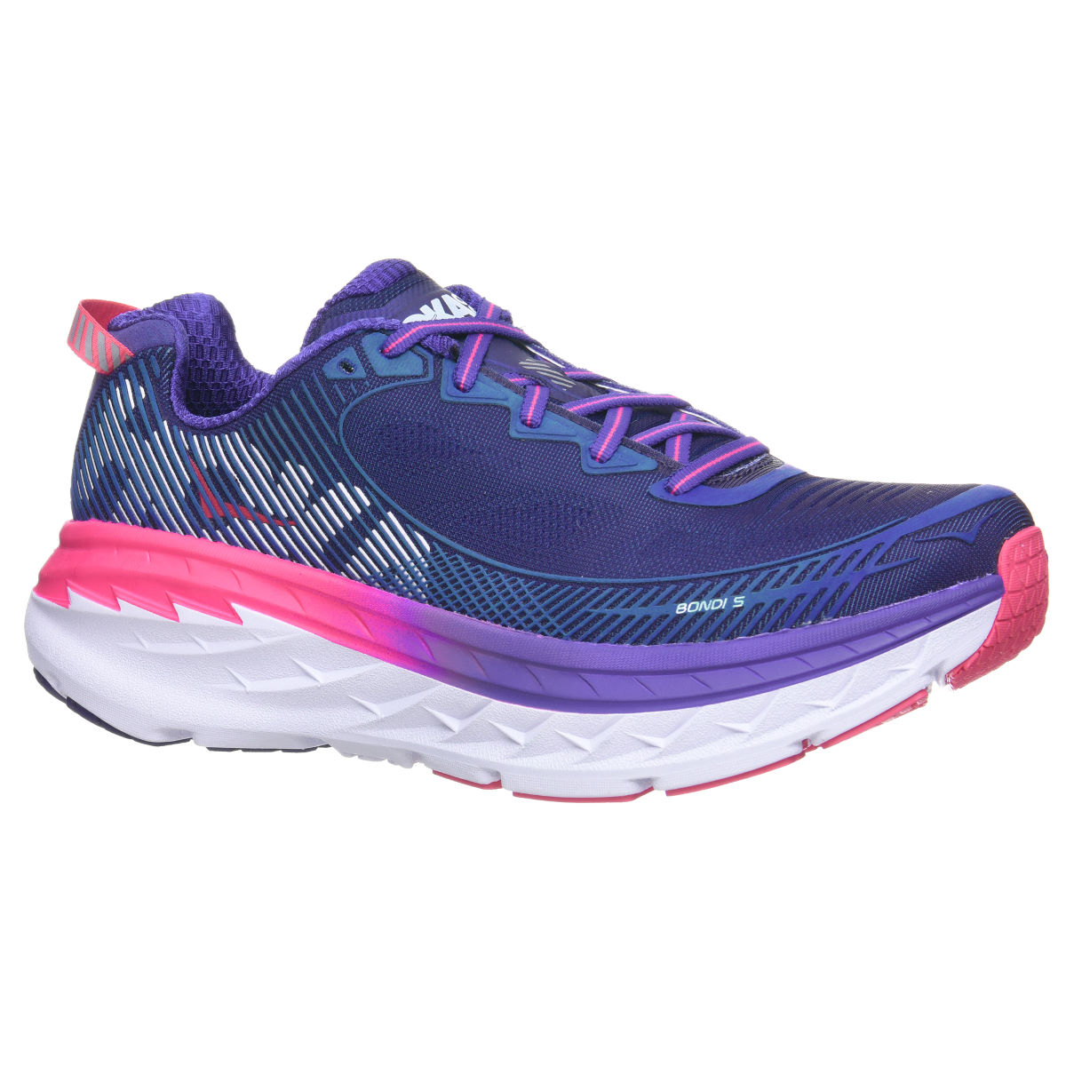 Chaussures Femme Hoka One One Bondi 5 - UK 4.5 Blue/Pink