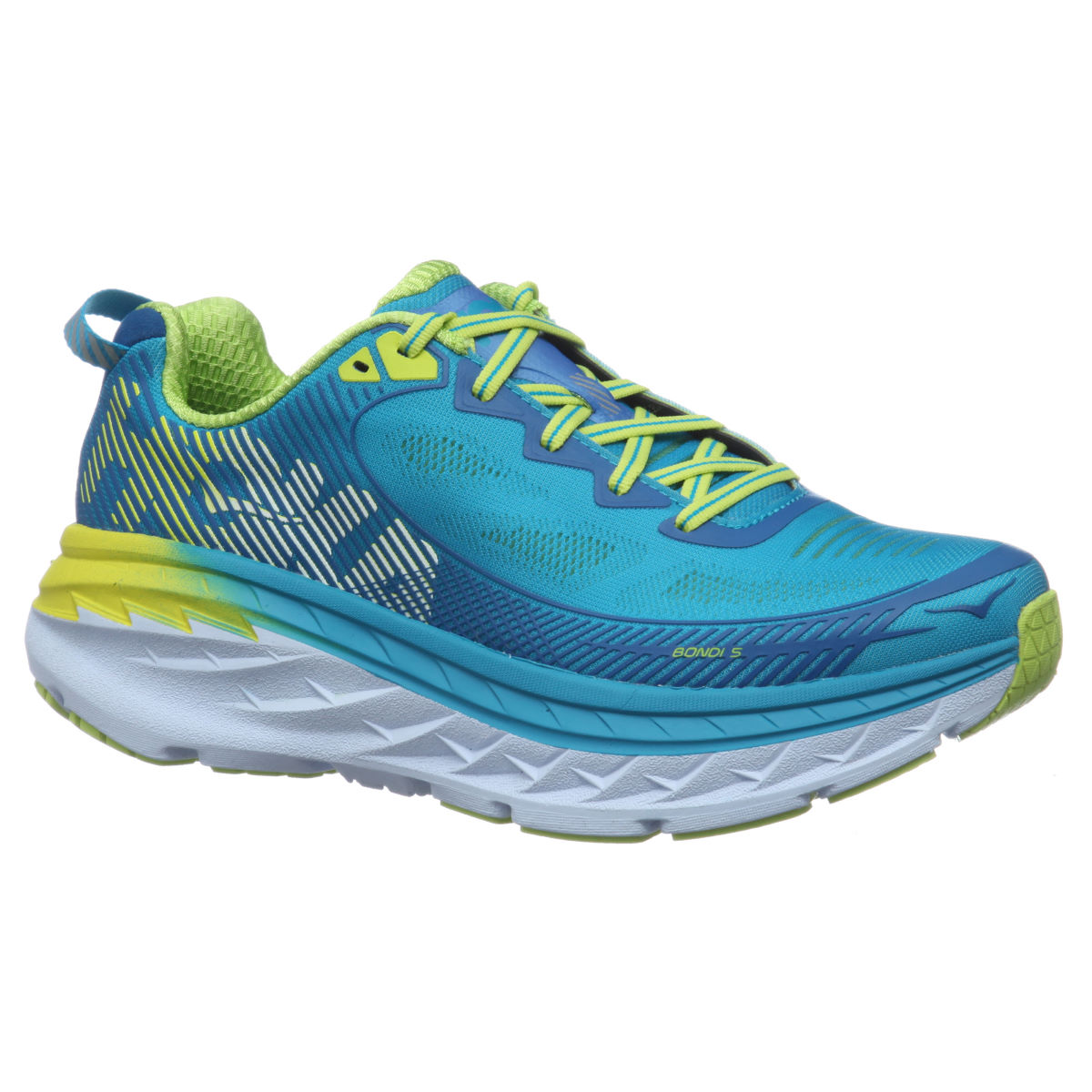 Chaussures Femme Hoka One One Bondi 5 - UK 5 Blue/Yellow