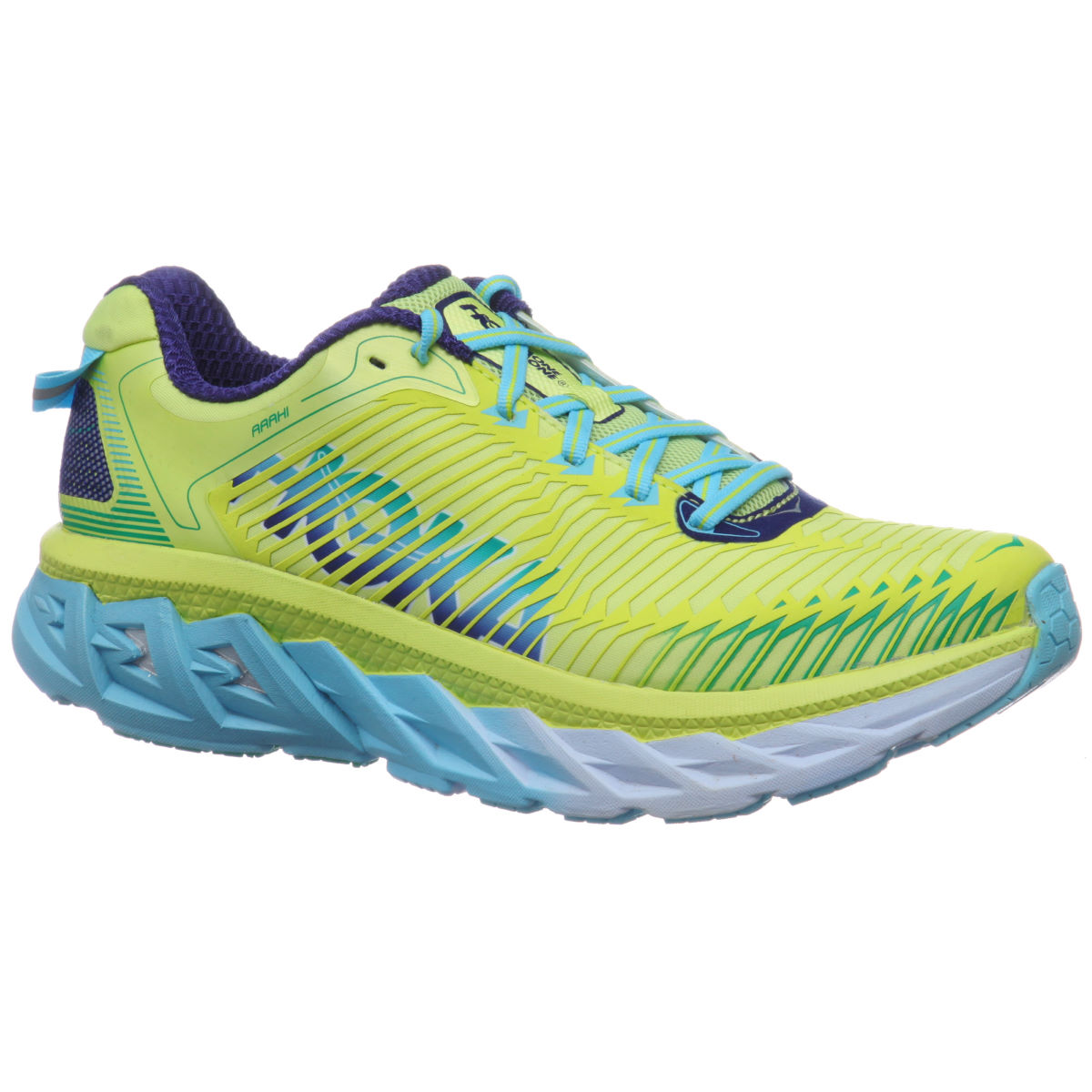 Chaussures Femme Hoka One One Arahi - UK 6 Sunny Lime/Blue Topa