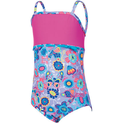 Zoggs Girl's Wild Classicback Swimsuit