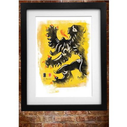 Cycling Souvenirs Tour of Flanders A3 Paper Print