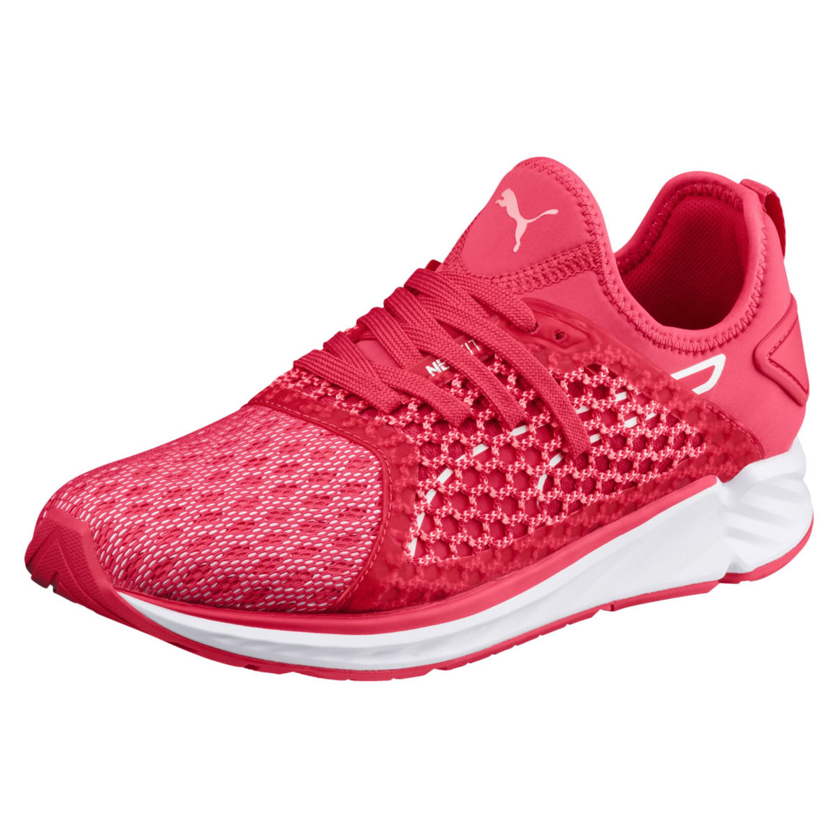Chaussures Femme Puma Ignite 4 Netfit - UK 7 pink-fluopeach
