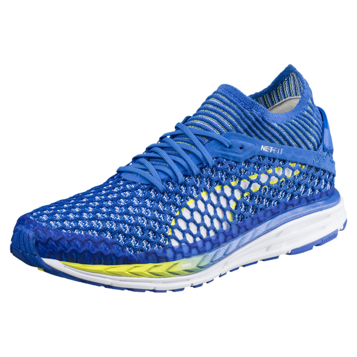 Chaussures Femme Puma Speed Ignite Netfit 2 - UK 4 blue-lemon-white
