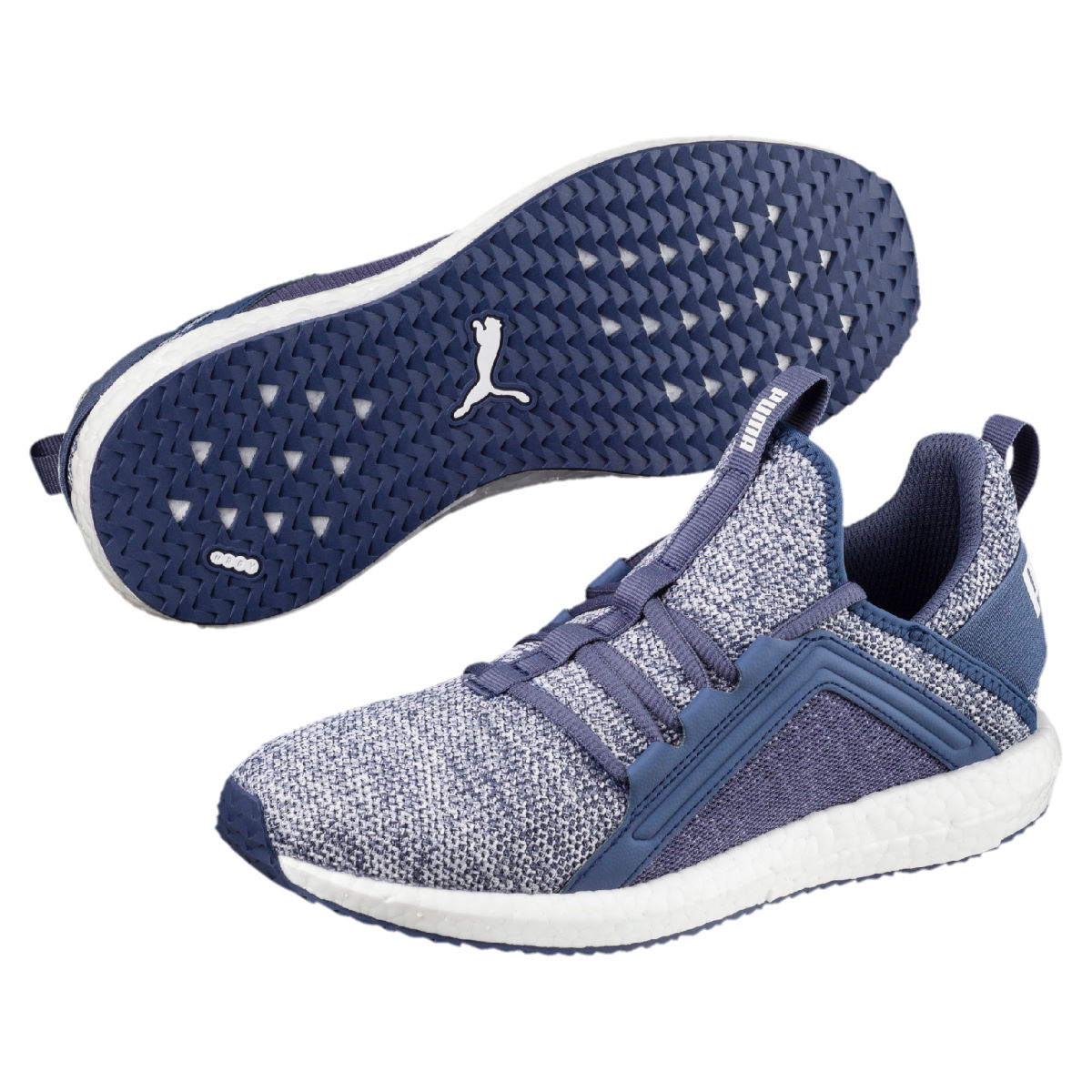 Chaussures Femme Puma Mega NRGY Knit - UK 4 blue indigo/white