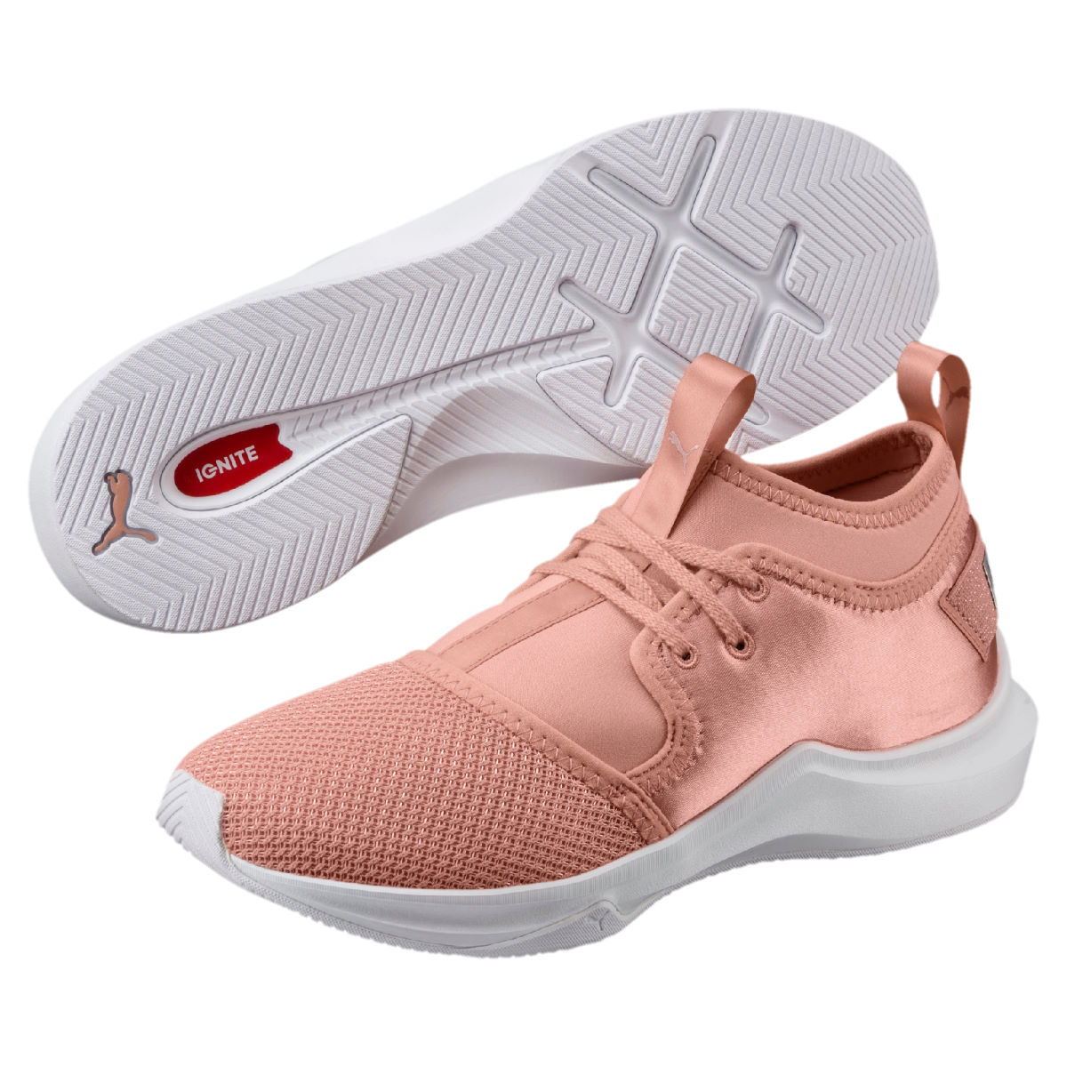 Chaussures Femme Puma Phenom Low Satin EP - UK 8.5 peach-white