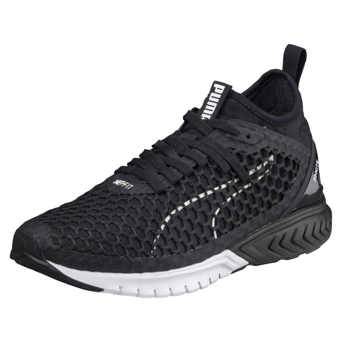 Chaussures Femme Puma Ignite Dual Netfit - UK 5 black-white