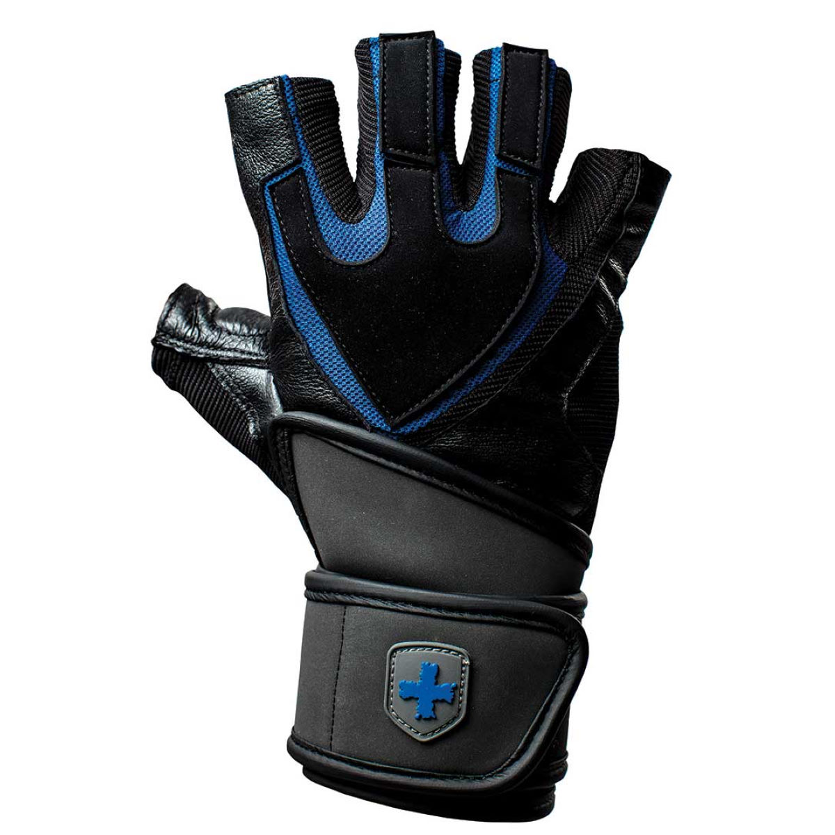 Gants courts Harbinger Training Grip® Wristwrap - Small Noir/Bleu