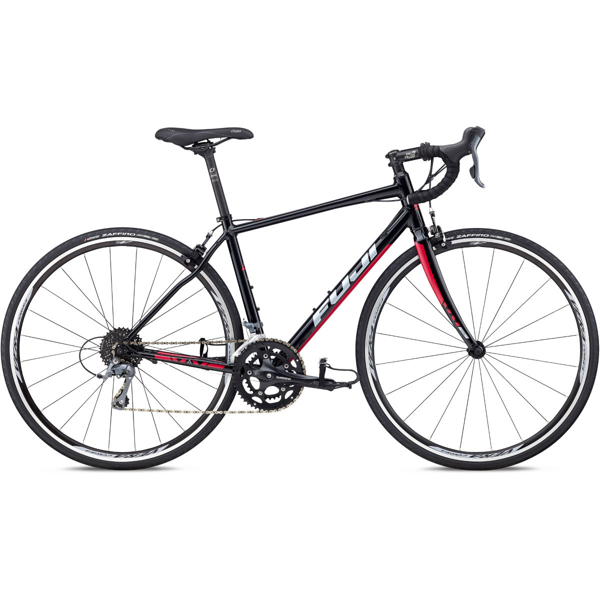 Vélo de route Fuji Finest 2.3 - 44cm Stock Bike Black/Raspberry